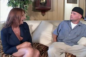mom teaches son how to fuck a woman