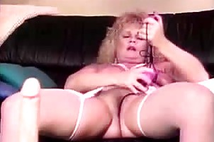 sexy and perverted granny plays with biggest anal