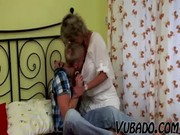 young lad bonks aged lady in bedroom !!