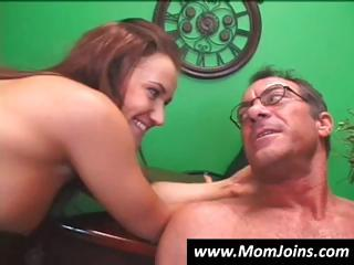 big-breasted d like to fuck and her young