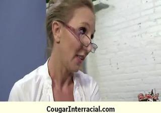 interracial cougar hard sex 10