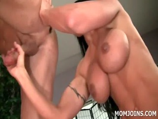 tattoed cougar ass fucking and eating hard rod