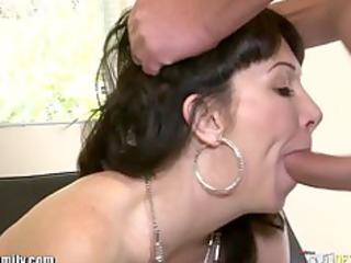 daughter catches mom getting arse drilled