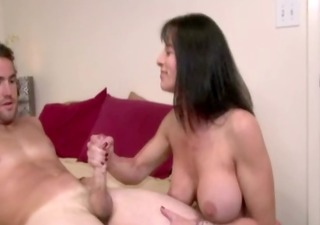 breasty aged mother i tugjob and tit fucking